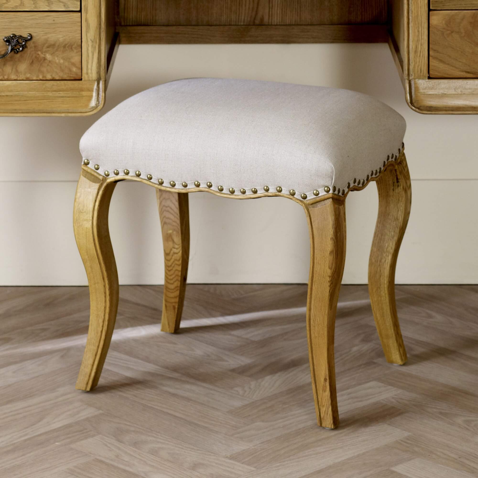 French Oak Dressing Table Stool