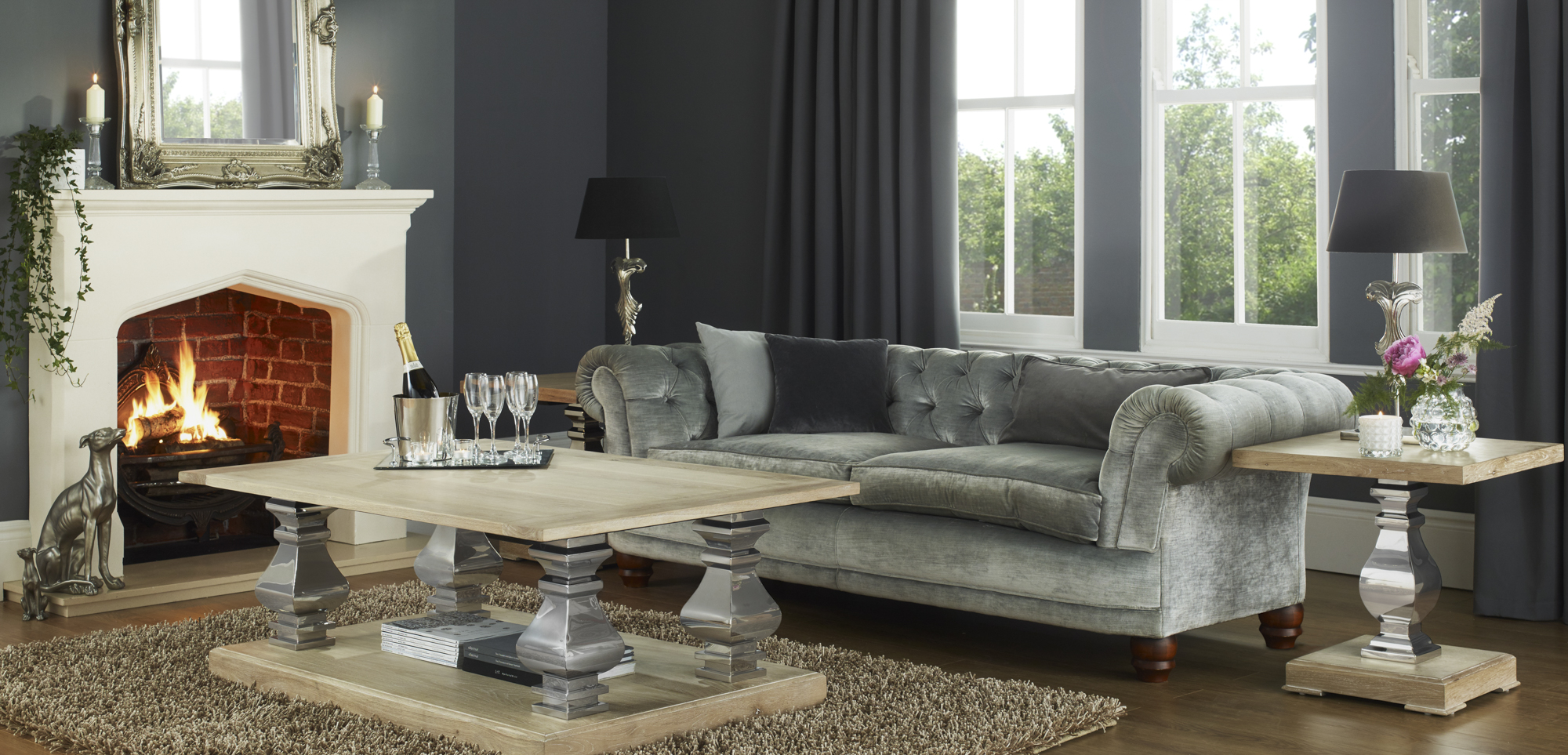 Presenting the Oak Stainless Steel Furniture Collection