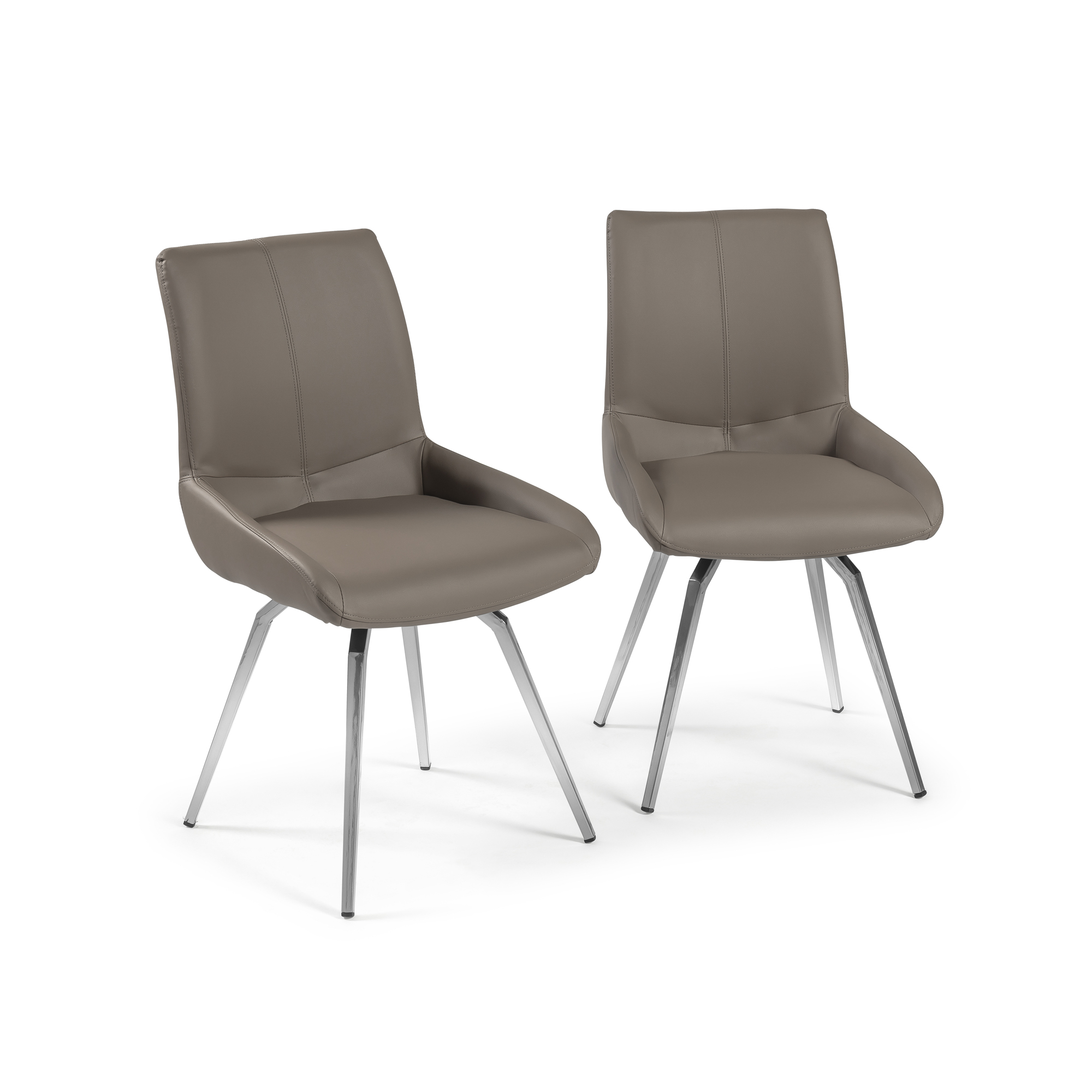 Taupe Swivel Dining Chair (Set of 2)