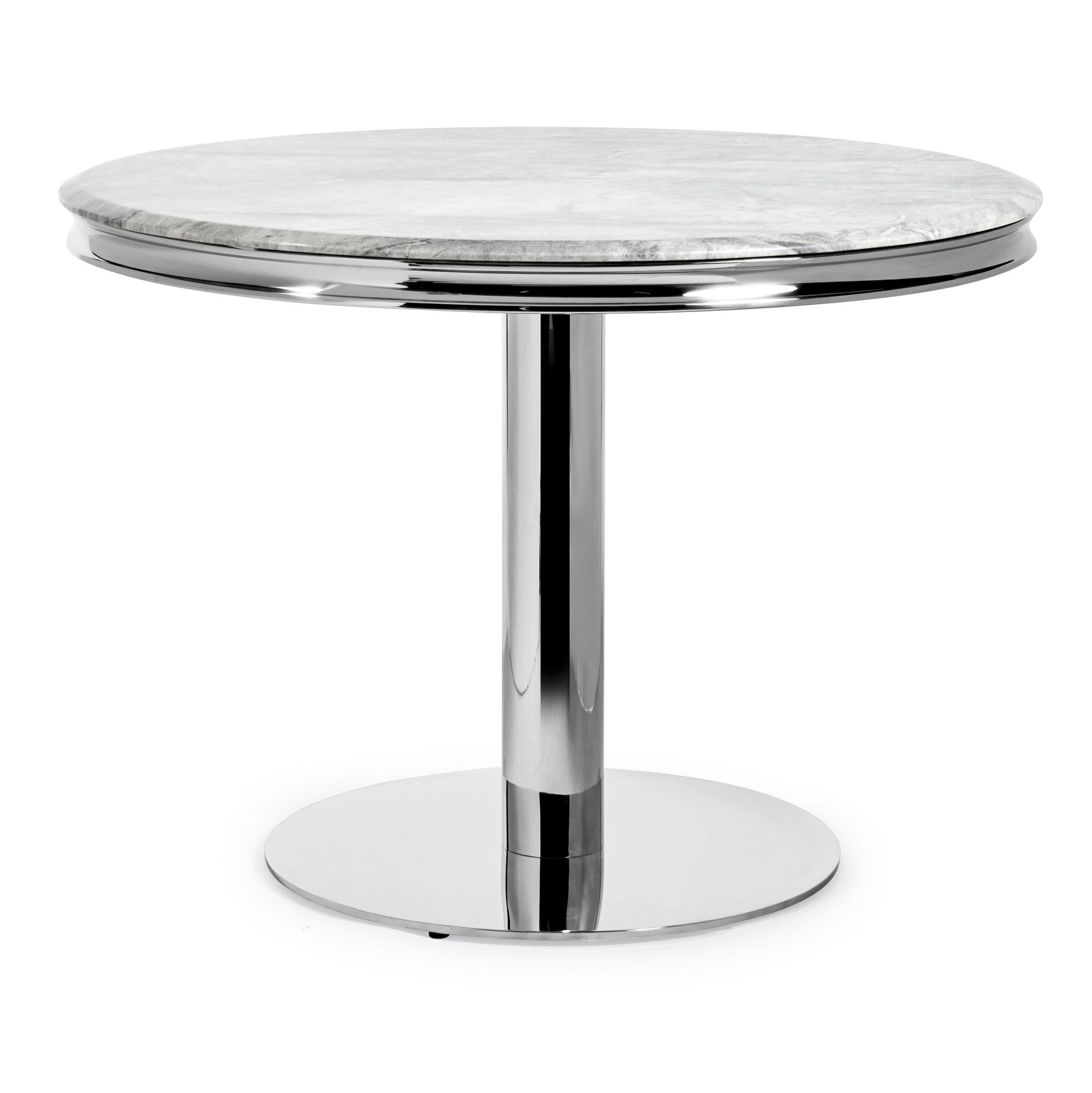 Small Louis 1.06m Round Dining Table – Grey Marble