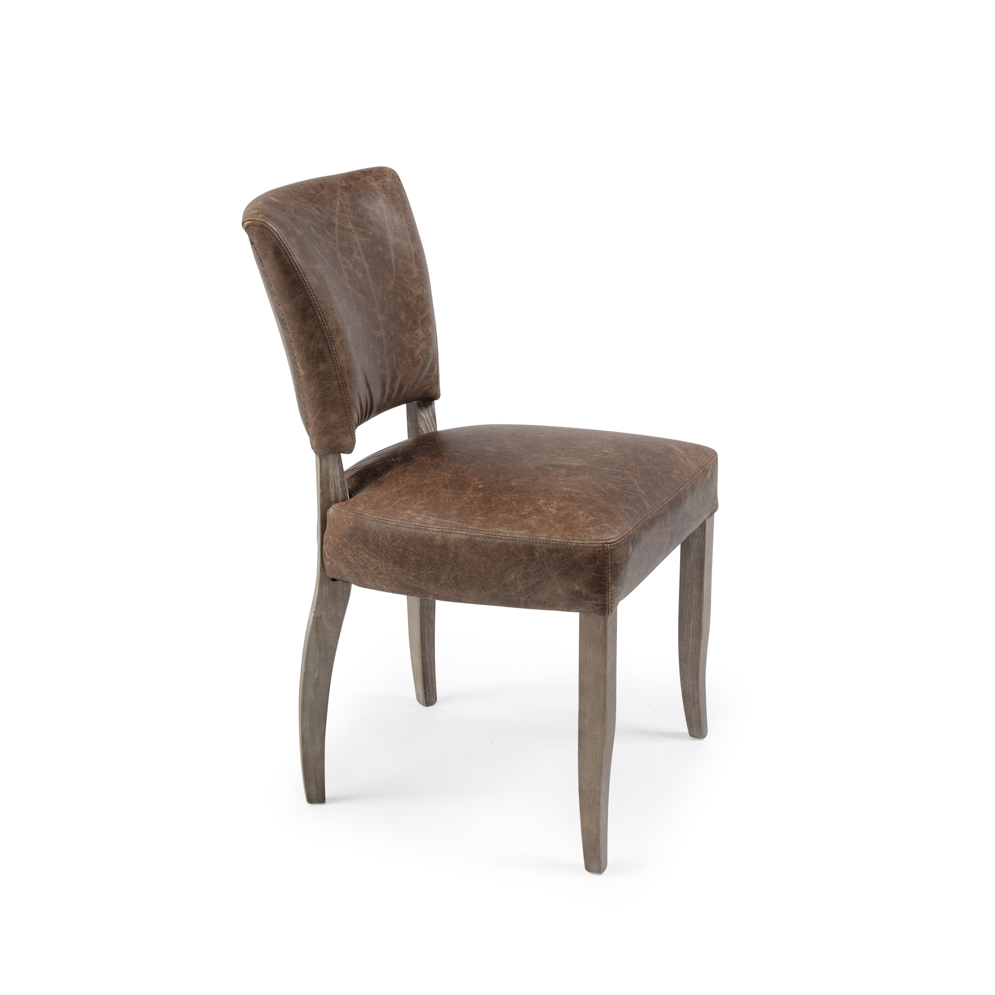 Wilmslow Vintage Leather Tan Dining Chairs (Set of 2)