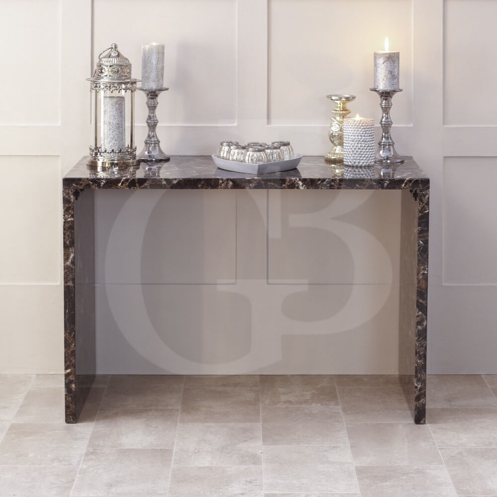 Faux Marble Desk- Console Table