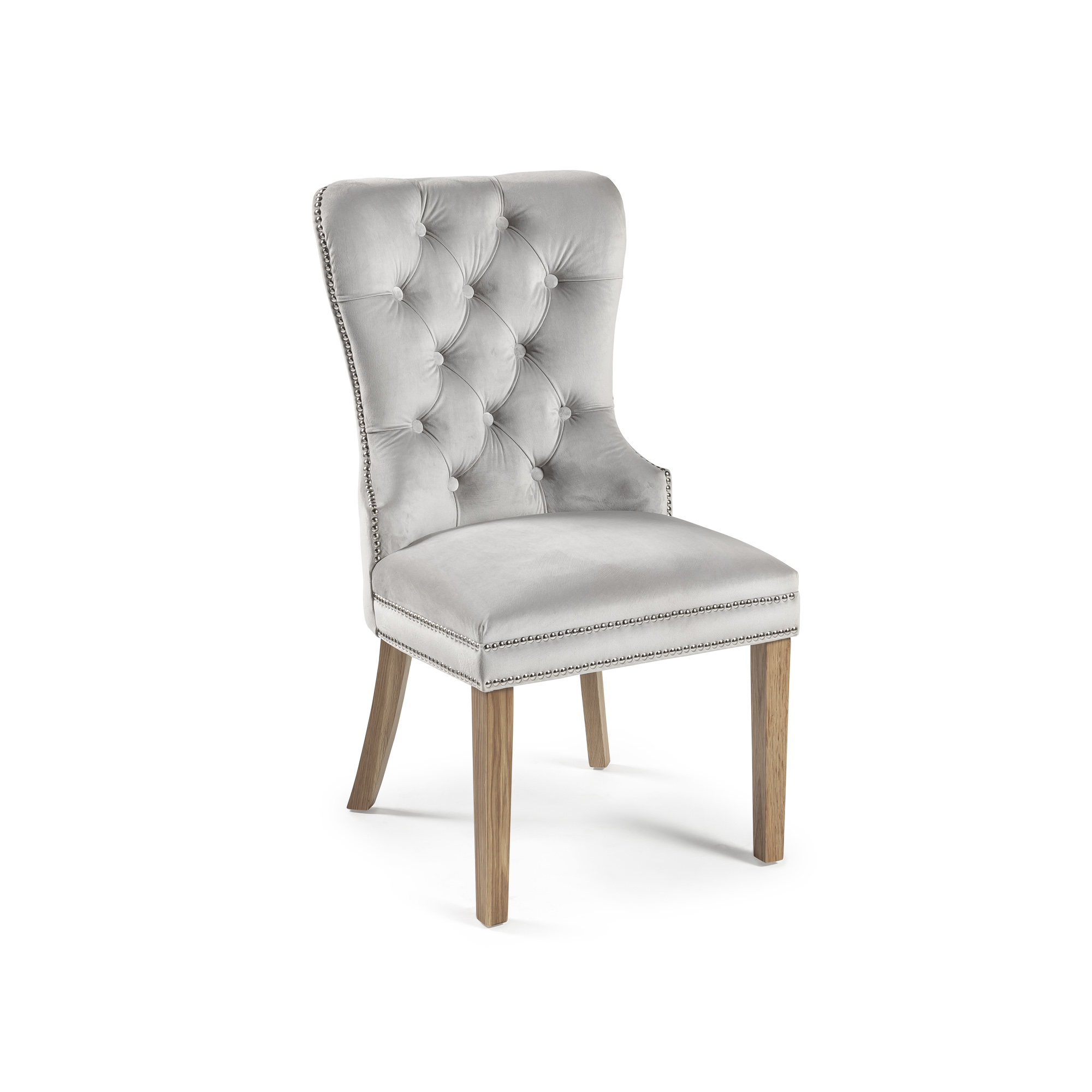 Hale Dove Grey Brushed Velvet Dining Chair