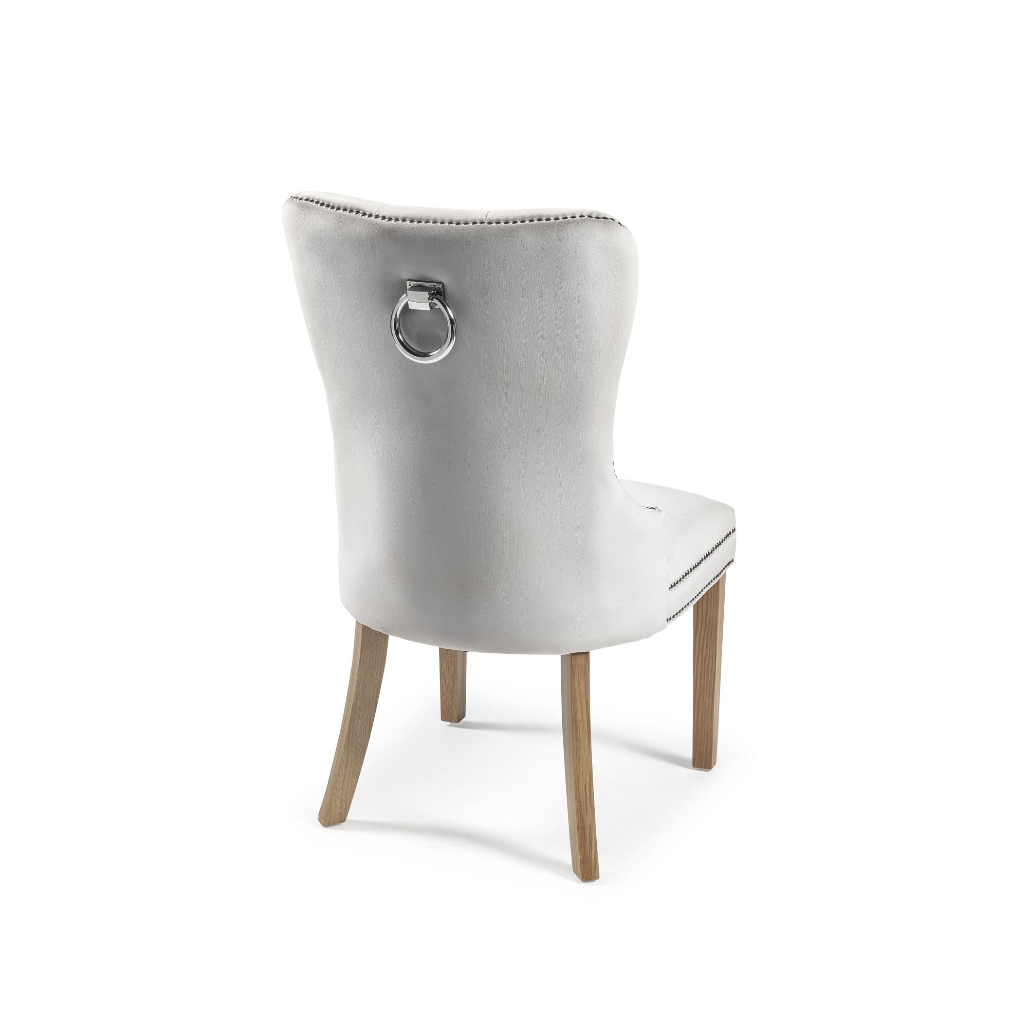 Hale Brushed Velvet Dining Chair – Dove Grey