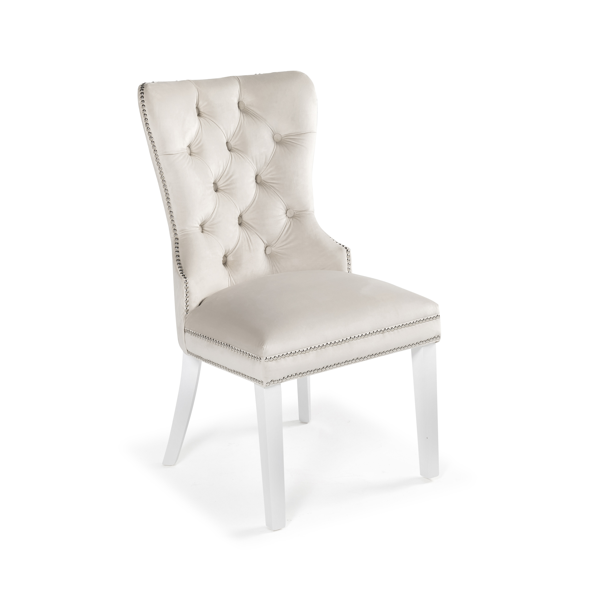 Hale Brushed Velvet Dining Chair – Cream