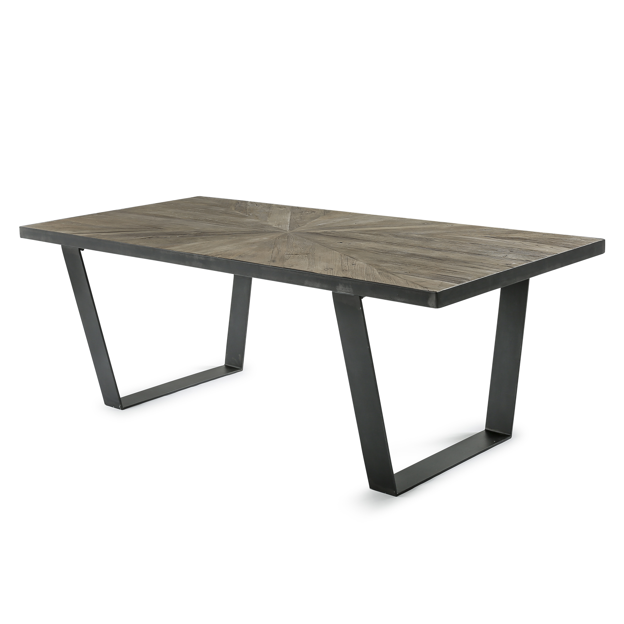 2.2m Aspen Parket Reclaimed Solid Elm Dining Table