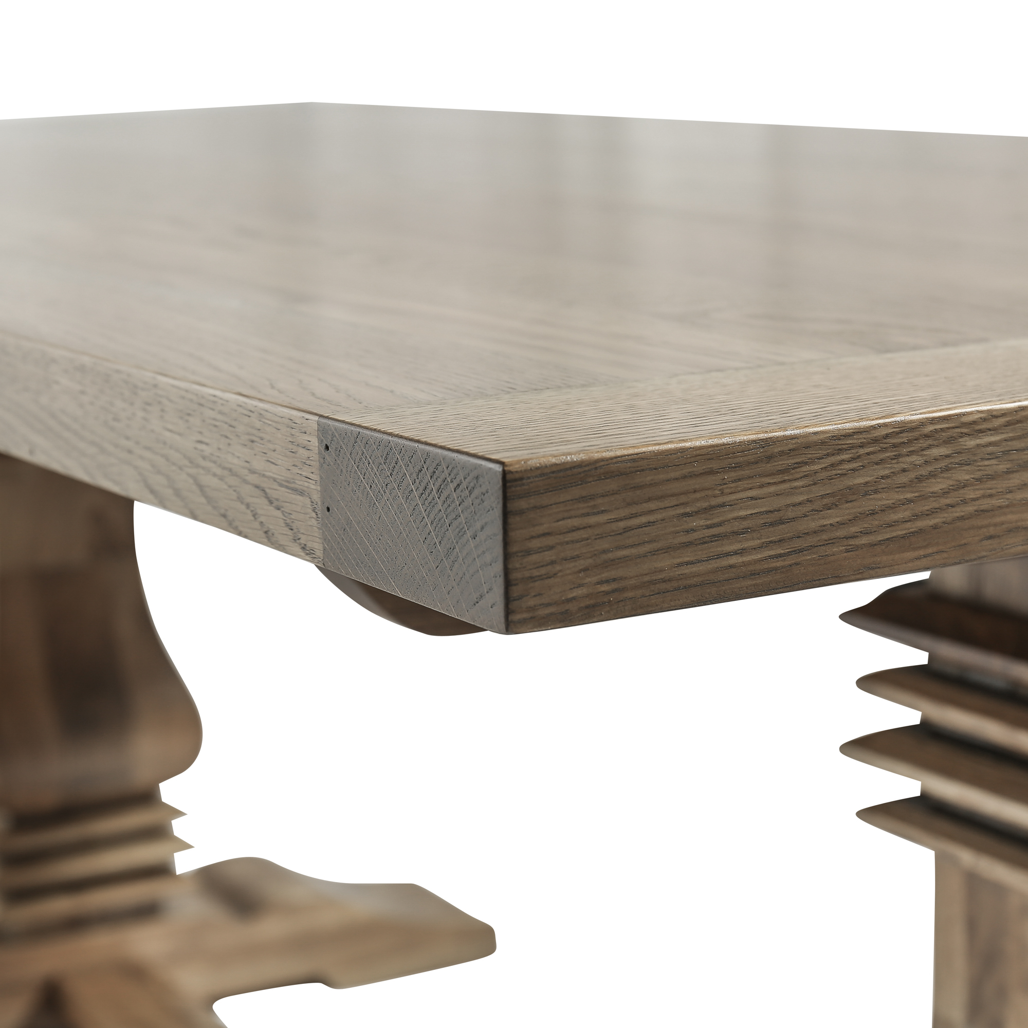 2m Solid Oak Dining Table