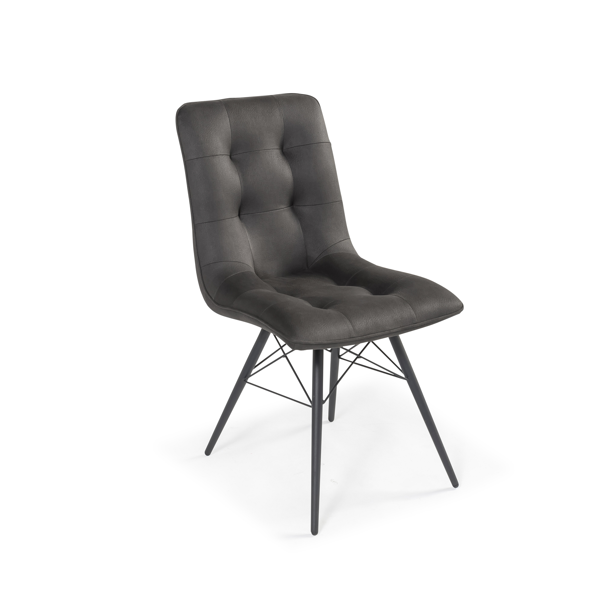 Madrid Grey Upholstered Modern Dining Chair (Set of 2)