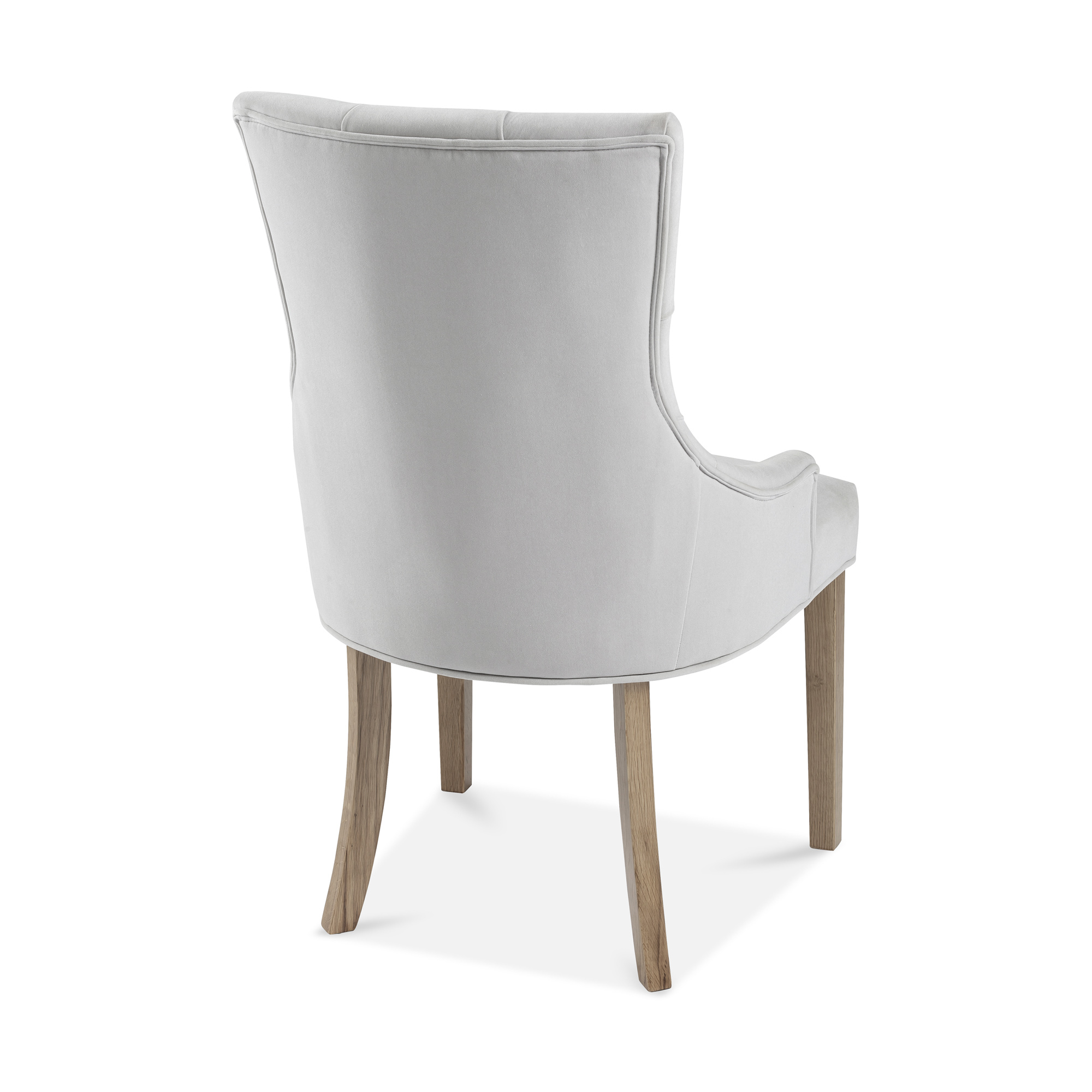 Truro Brushed Velvet Upholstered Scoop Dining Chair – Dove Grey