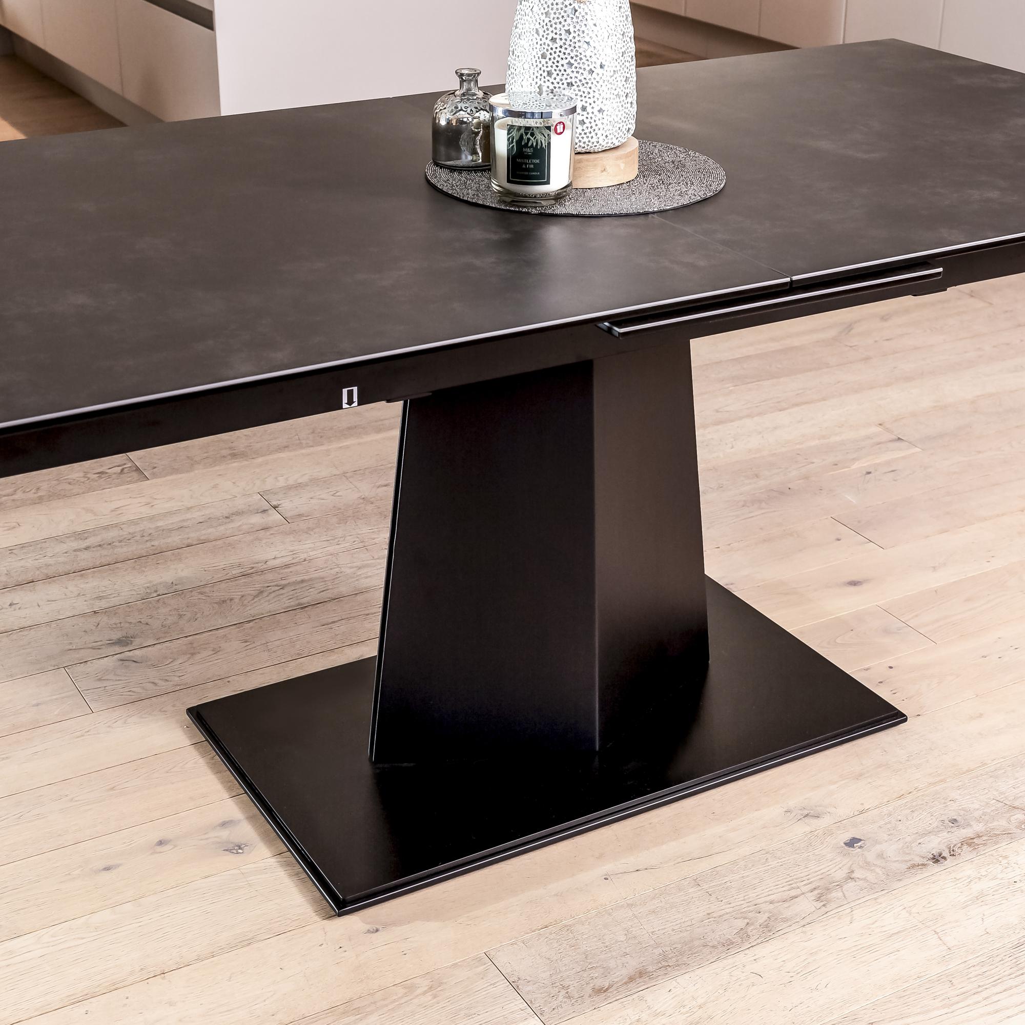 1.8m-2.2m – Casa Grey Ceramic Top Rectangular Extending Dining Table