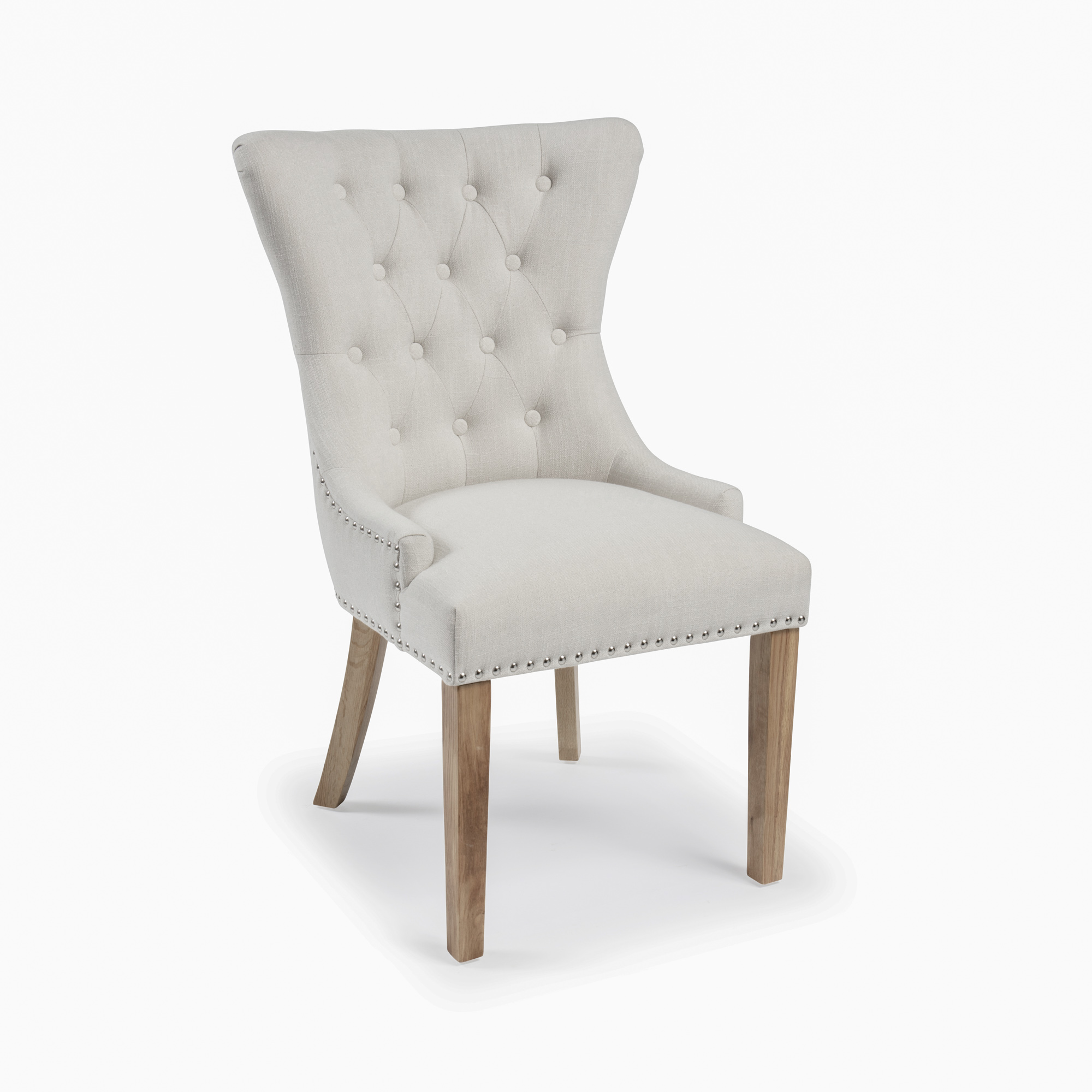 Knightsbridge Natural Linen Dining Chair with Hoop – Sets