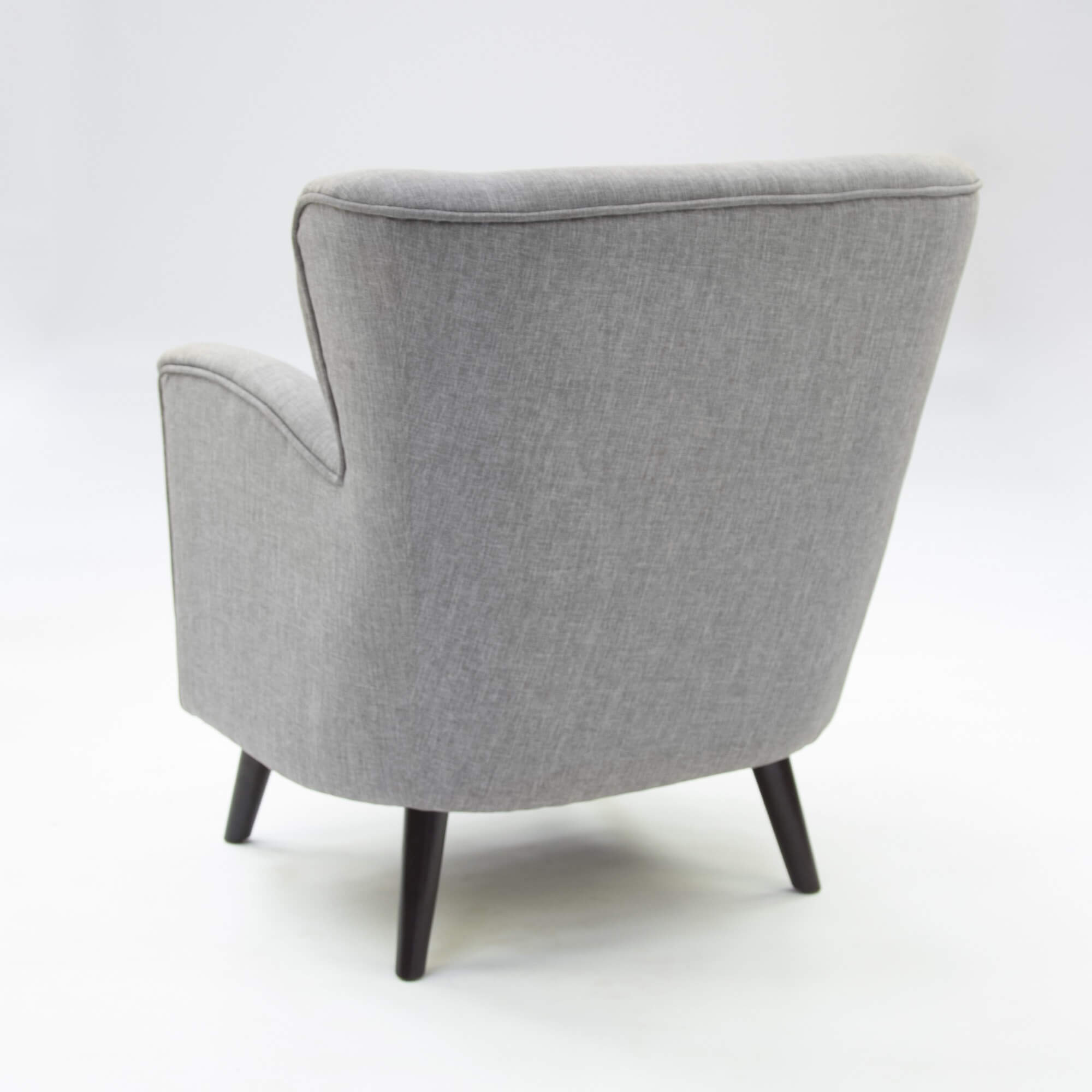 London Retro Grey Armchair Chair