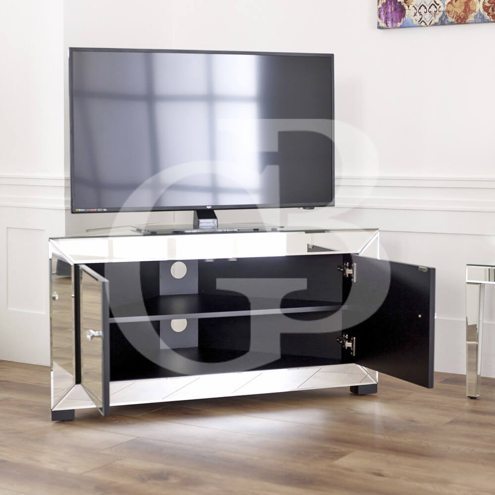 Venetian Mirrored Corner TV Cabinet