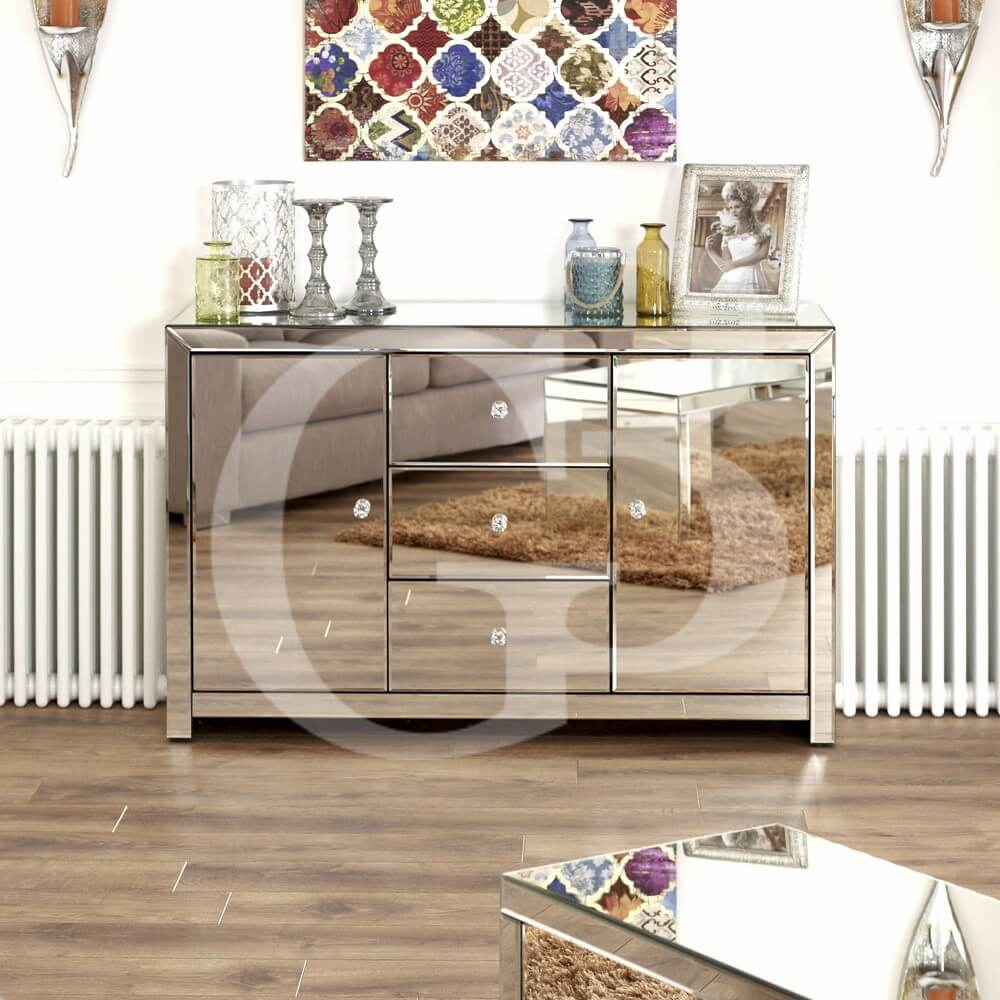 Venetian Mirrored Large Sideboard