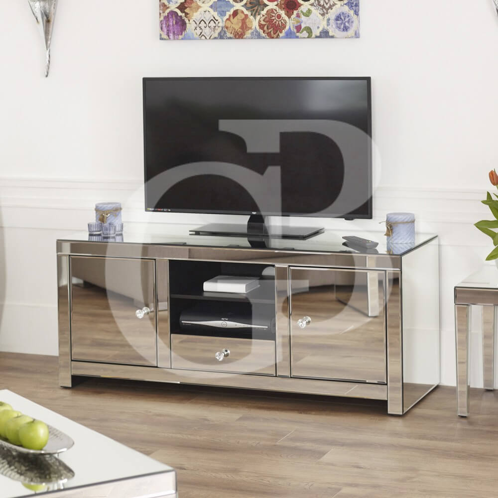 Venetian Mirrored Widescreen TV Unit