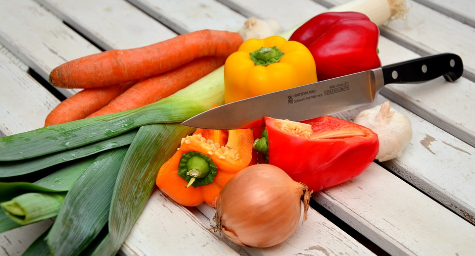 A collection of vegetables for preparation