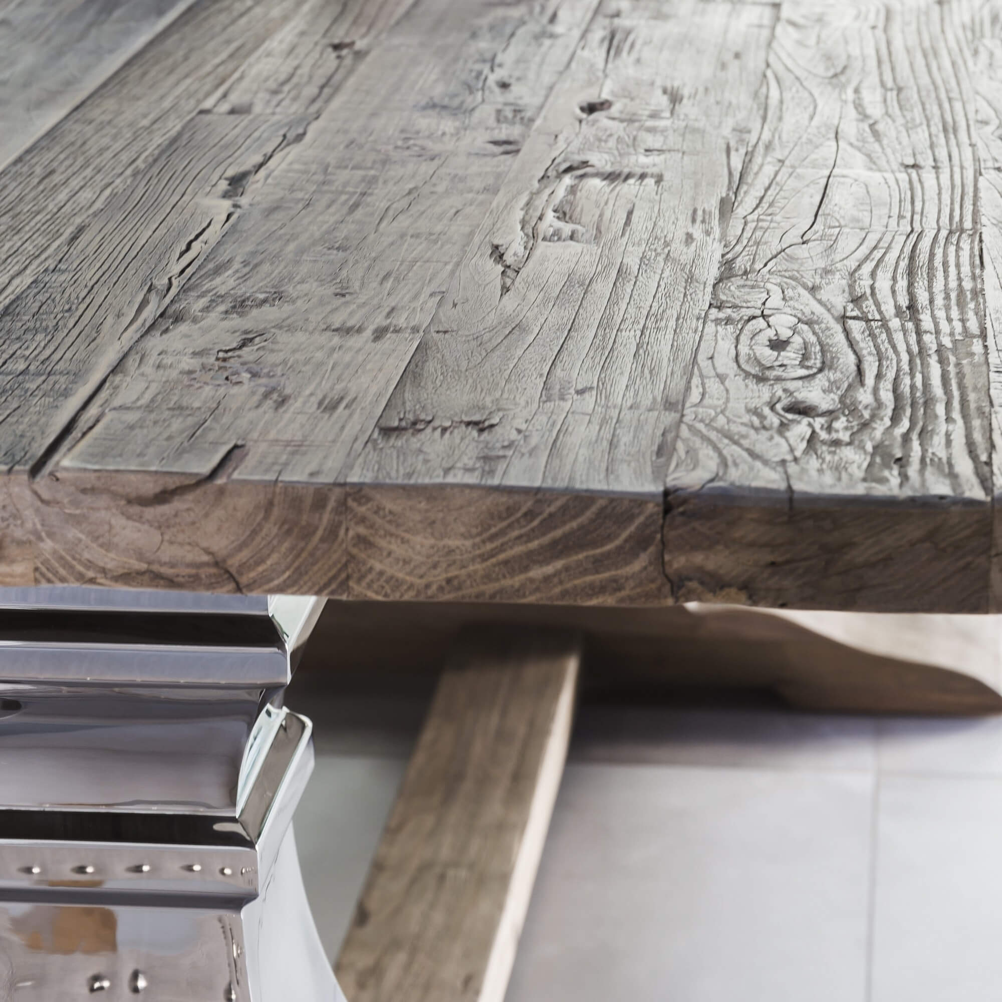 2m Aspen Solid Reclaimed Elm Dining Table