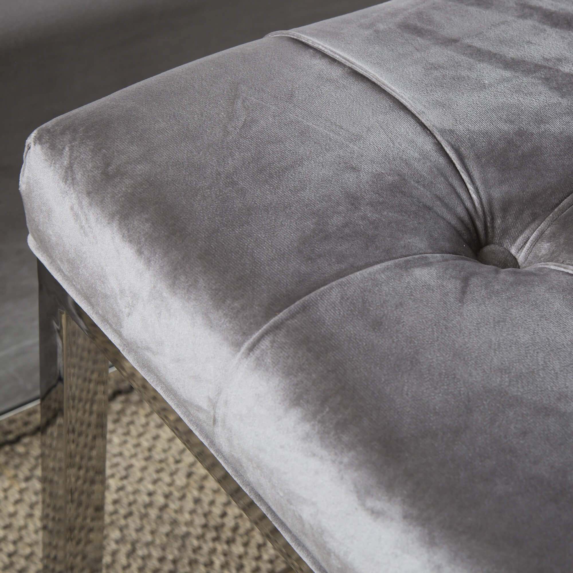 Luxurious Brushed Velvet Bedroom Bench