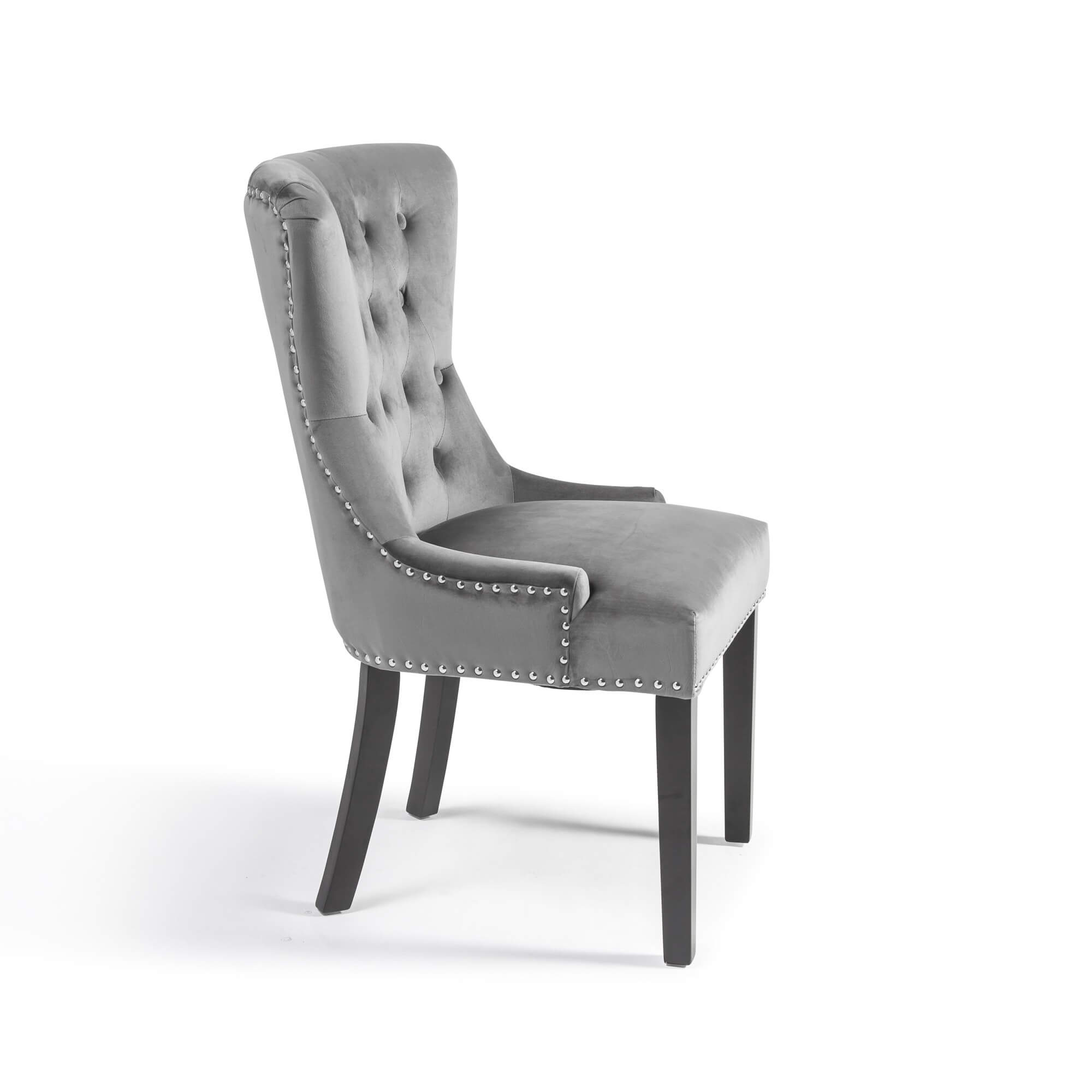 Brushed Velvet Dining Chair – Grey