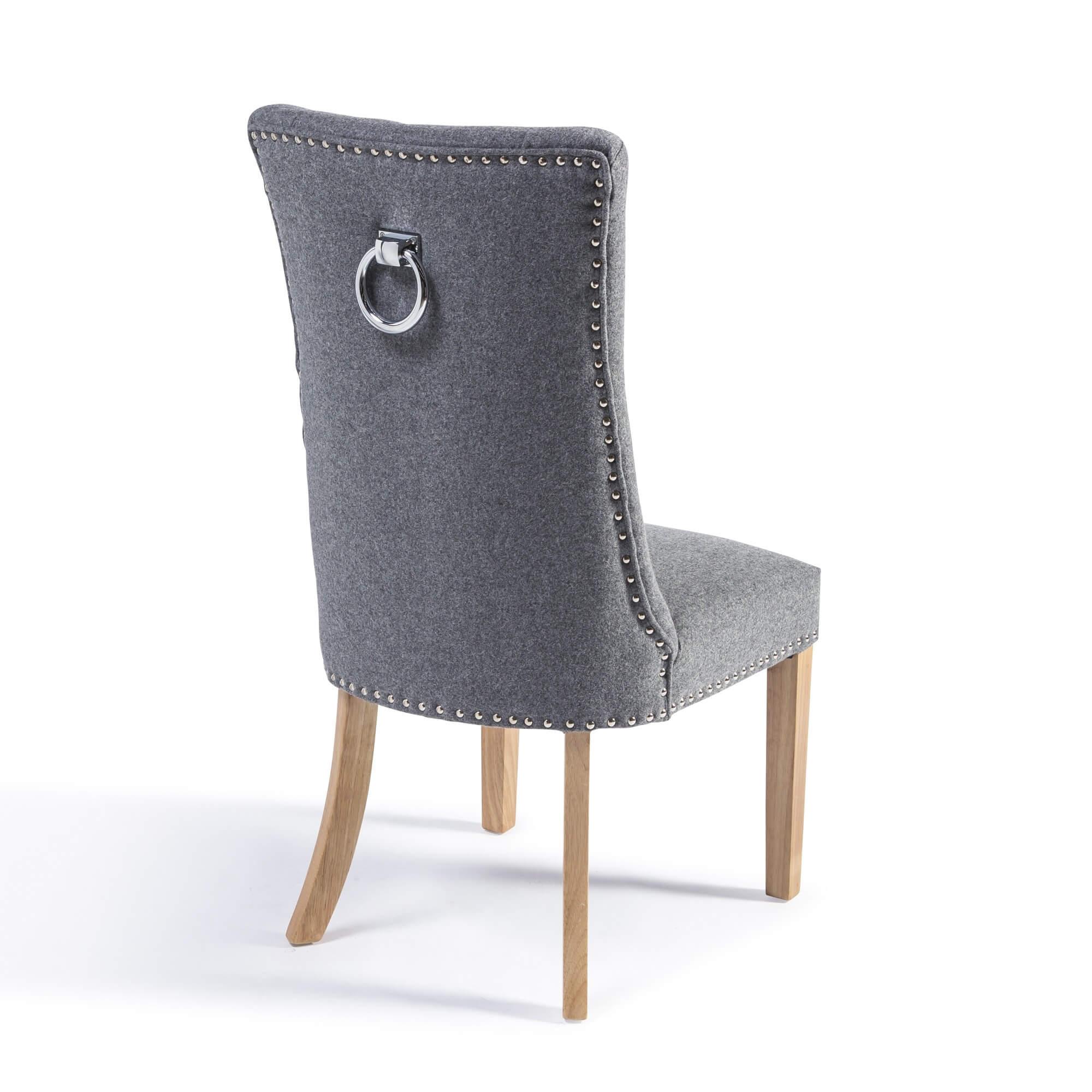 Siena Wool Dining Chair with Hoop (Set of 2)