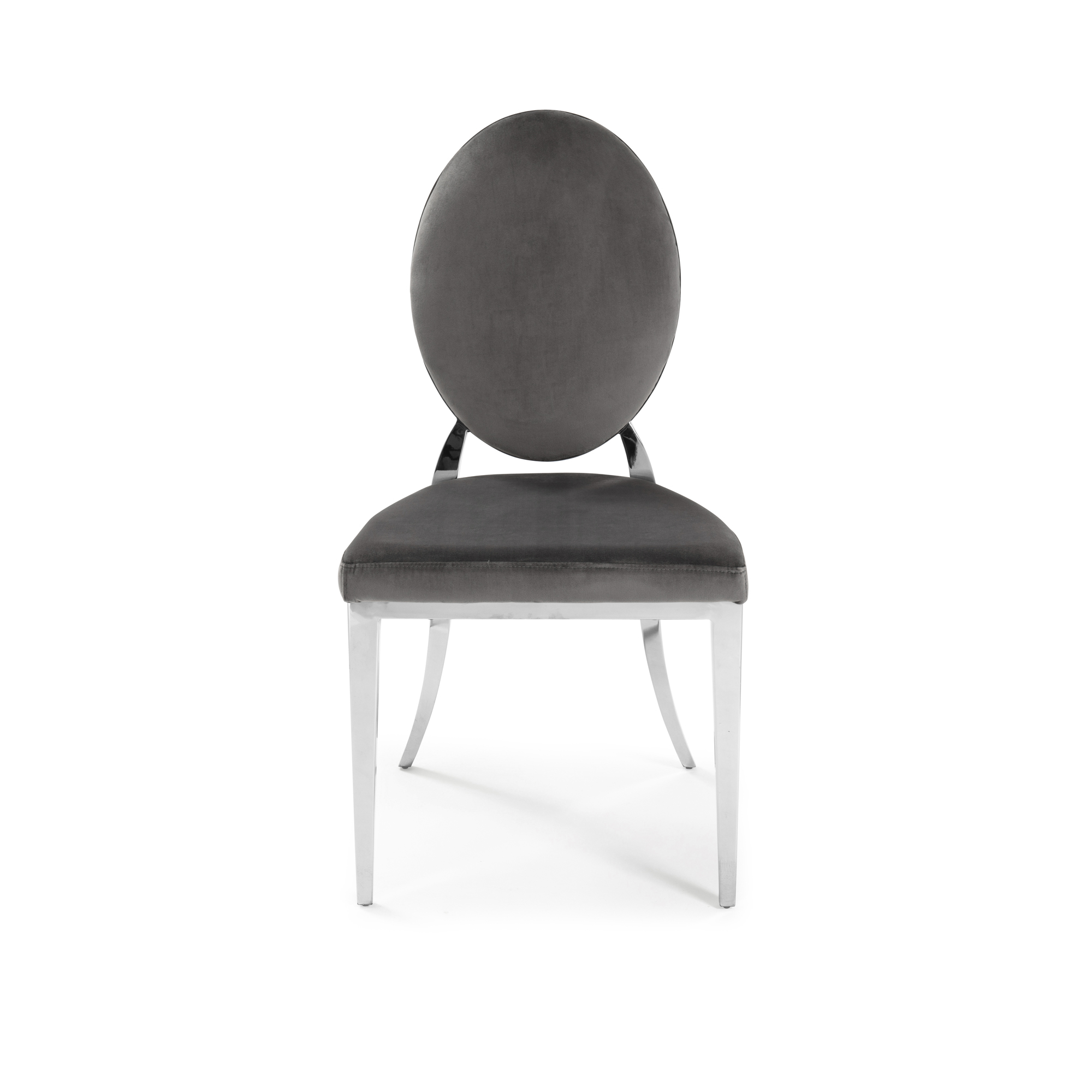 1.3m Louis Round Grey Marble Dining Room Table & Chairs Set
