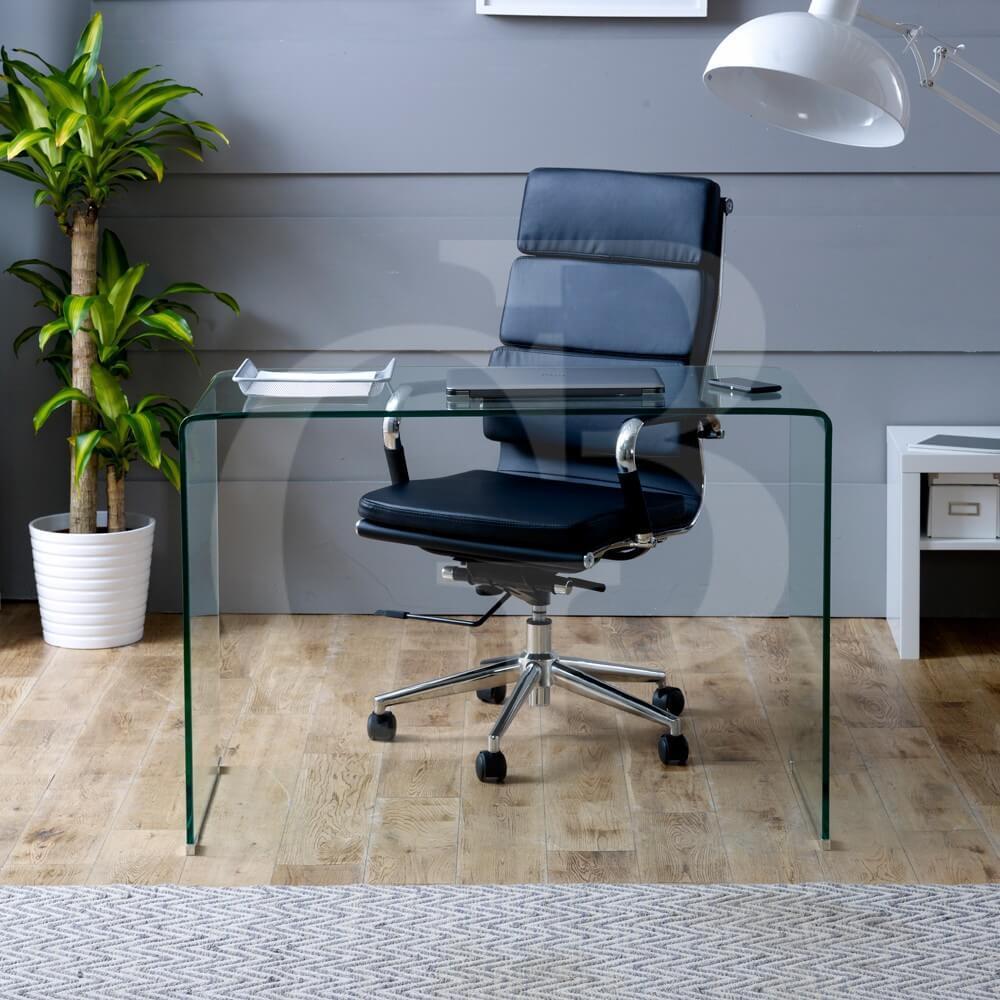 Small Clear Glass Desk