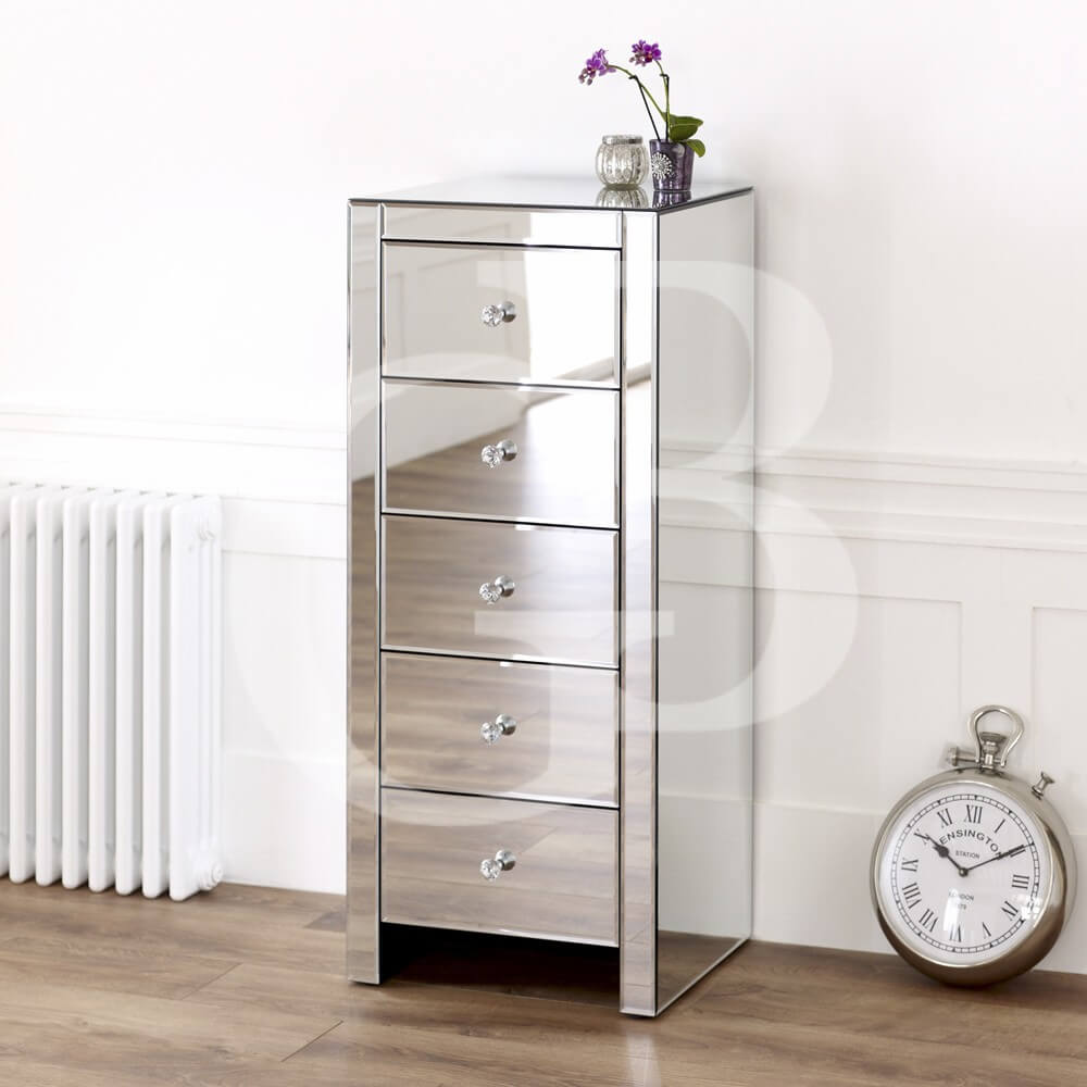 Venetian Mirrored 2 Drawer Dressing Table
