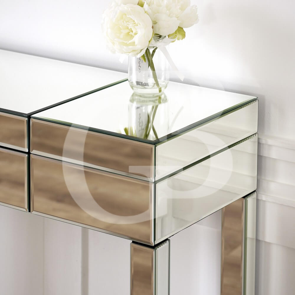Venetian Mirrored Compartment Dressing Table