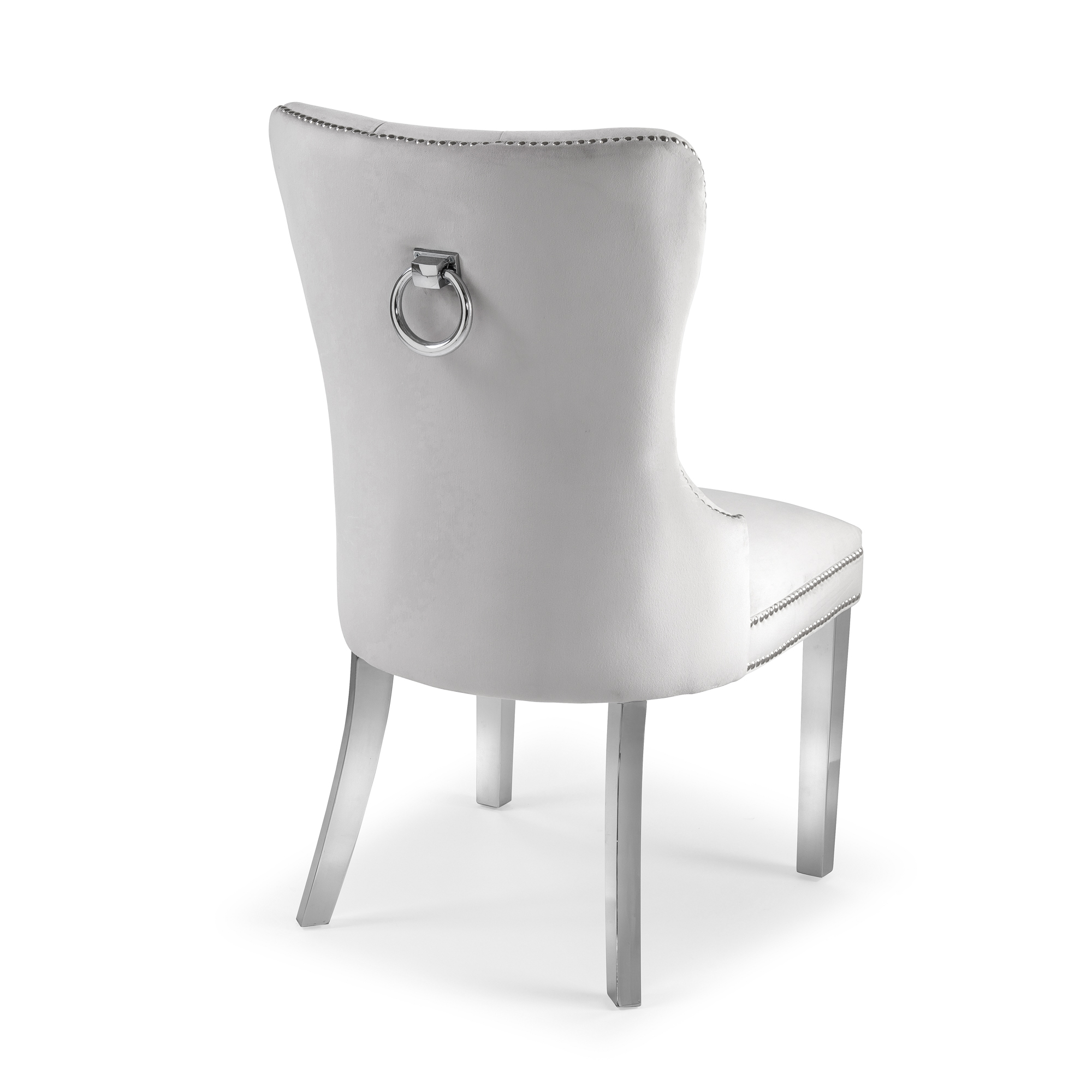 Hale Brushed Velvet Dining Chair – Dove Grey