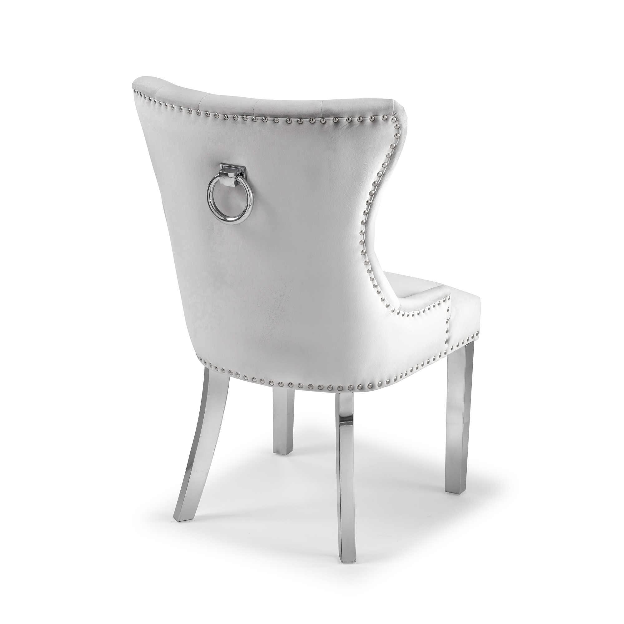 Knightsbridge Brushed Velvet Dining Chair – Dove Grey