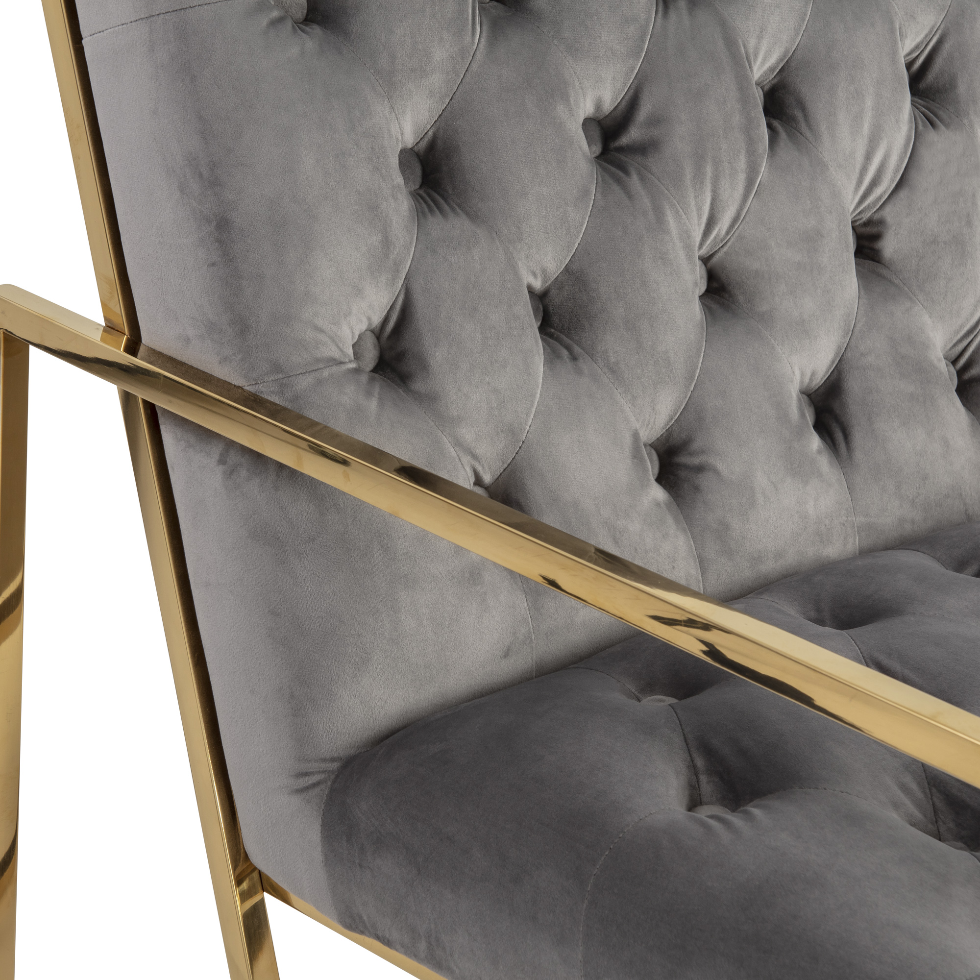 Bequest Accent Gold Lounge Chair