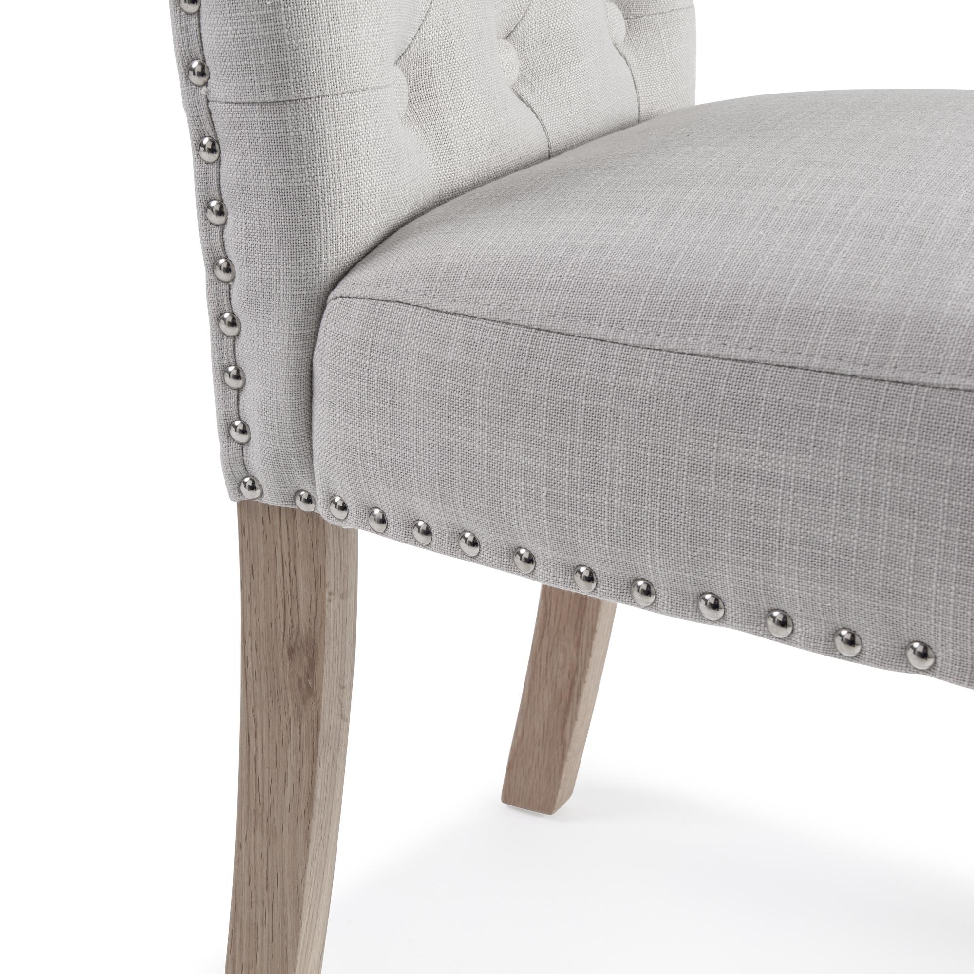 Harrogate Cream Natural Linen Dining Chairs (Set of 2)